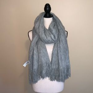 H&M Grey Knit Oversized Scarf